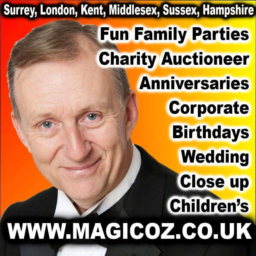 MAGIC OZ THE FUN MAGICIAN ALL AROUND SURREY