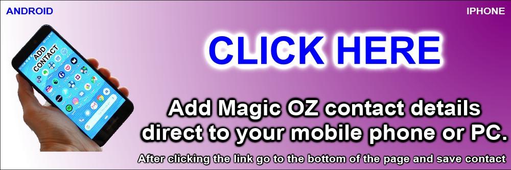 Contact Magic OZ Magician